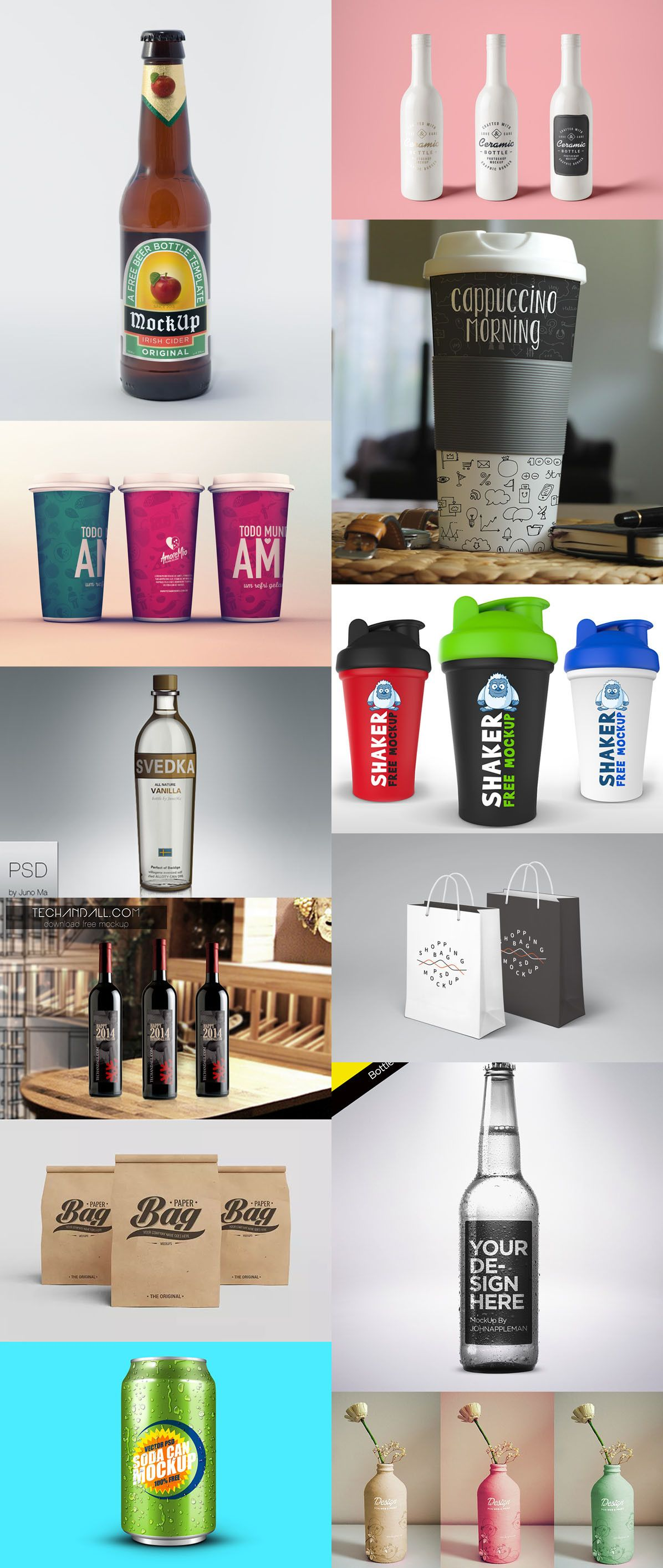 Download 105 Product Packaging Mockups Free Premium Mockup Packaging Mockup Free Design Elements