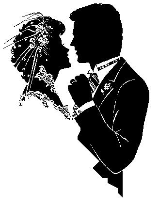 اذواق ثيمات زواج وافراح لكي ياعروستنا الجميلة Wedding Clipart Couple Clipart Couple Silhouette