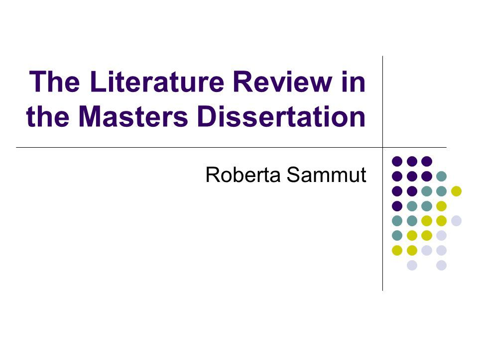 Summary of master thesis
