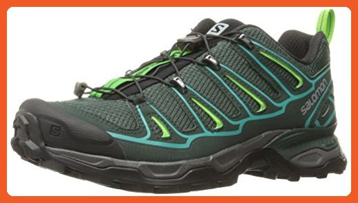 Salomon Women's X Ultra 2W Hiking Shoe, Bistro GreenScarab