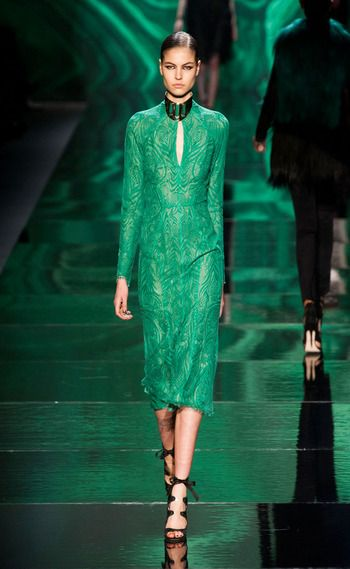 Monique L'huillier winter 2013-14 NY -  green elegance