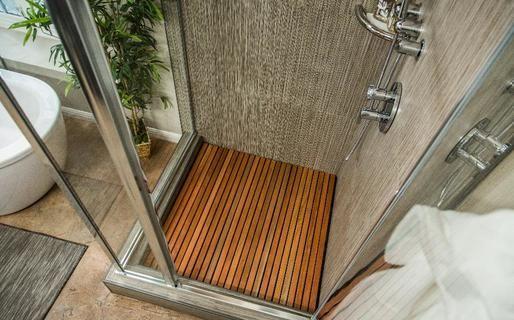 Diy Wooden Slat Shower Floor Home Family Teak Shower Floor Teak Shower Shower Floor
