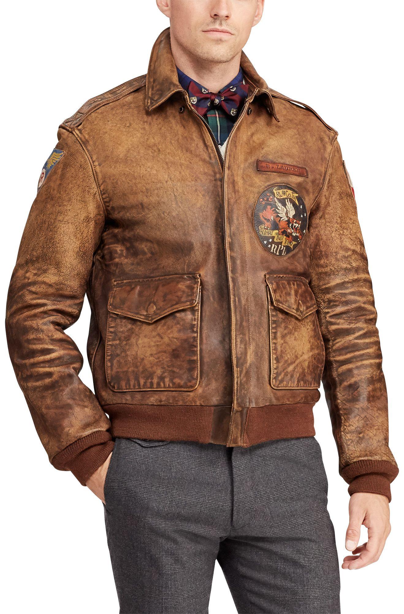 Polo Ralph Lauren Leather Bomber Jacket Chaqueta De Moda Para Hombre Moda Ropa Hombre Chaquetas De Moda [ 2000 x 1318 Pixel ]