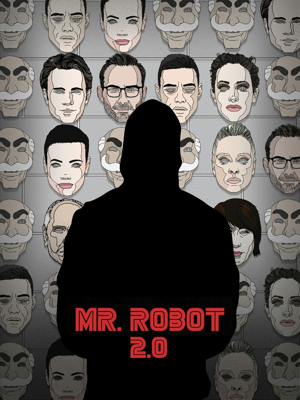 "packatrix: ""My poster design for the @posterspy and #AmazonPrime @whoismrrobot poster competition. I added a redesigned phone wallpaper to my tumblr for those that want it. :)"""