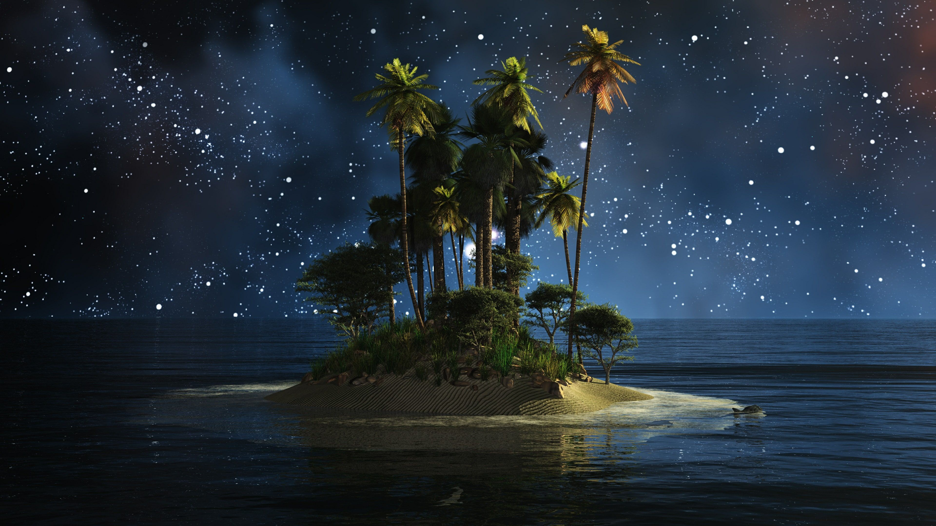 nature water sky atmosphere darkness island night
