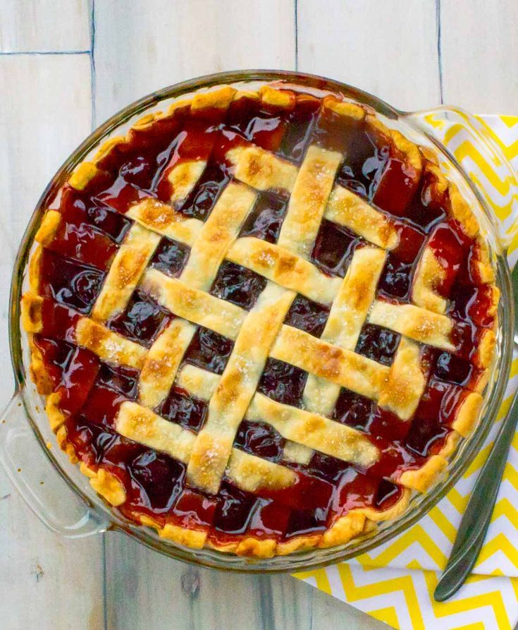 The Best Cherry Pie Recipe with Homemade Filling - Sweets, Desserts, Cake, Pies, Cobblers, Cupcakes