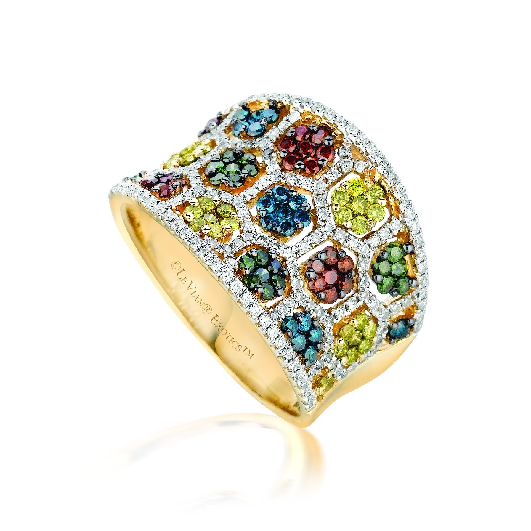 zahm tsavorite with philip ring pin green exotic diamond in garnet yellow gold