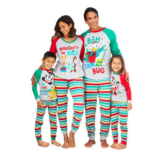 d4b123c5d5 The whole family be fa-la-la-fashionable in this Holiday Family Sleepwear  Collection. Featuring festive character artwork paired with stripes