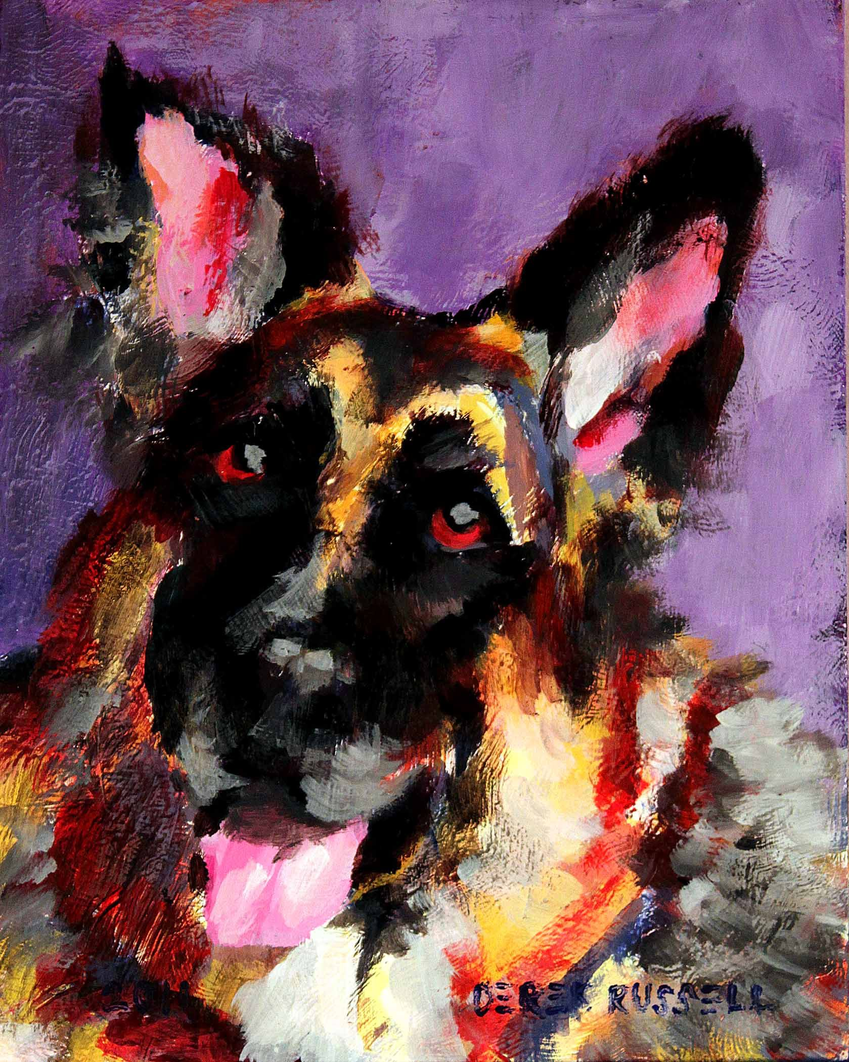 Dog Paintings By Famous Artists Private Collection New