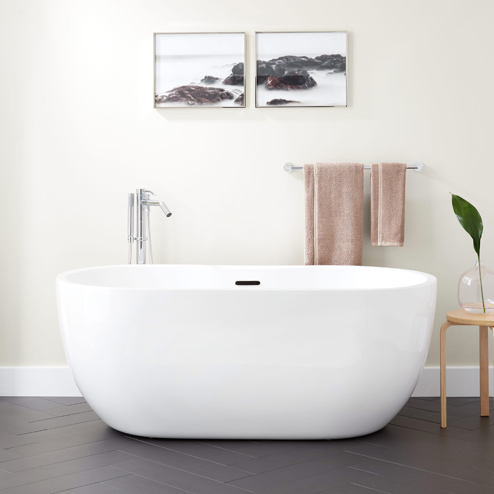 The Boyce Acrylic Tub Is The Ideal Choice For A Relaxing Retreat In Your Master Bath Suite Add Your Own P In 2020 Acrylic Tub Free Standing Bath Tub Free Standing Tub