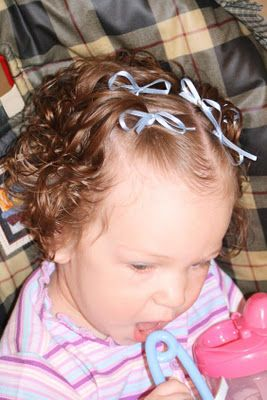 Cute Pigtails With Bows Perfect For Short Curly Hair For The