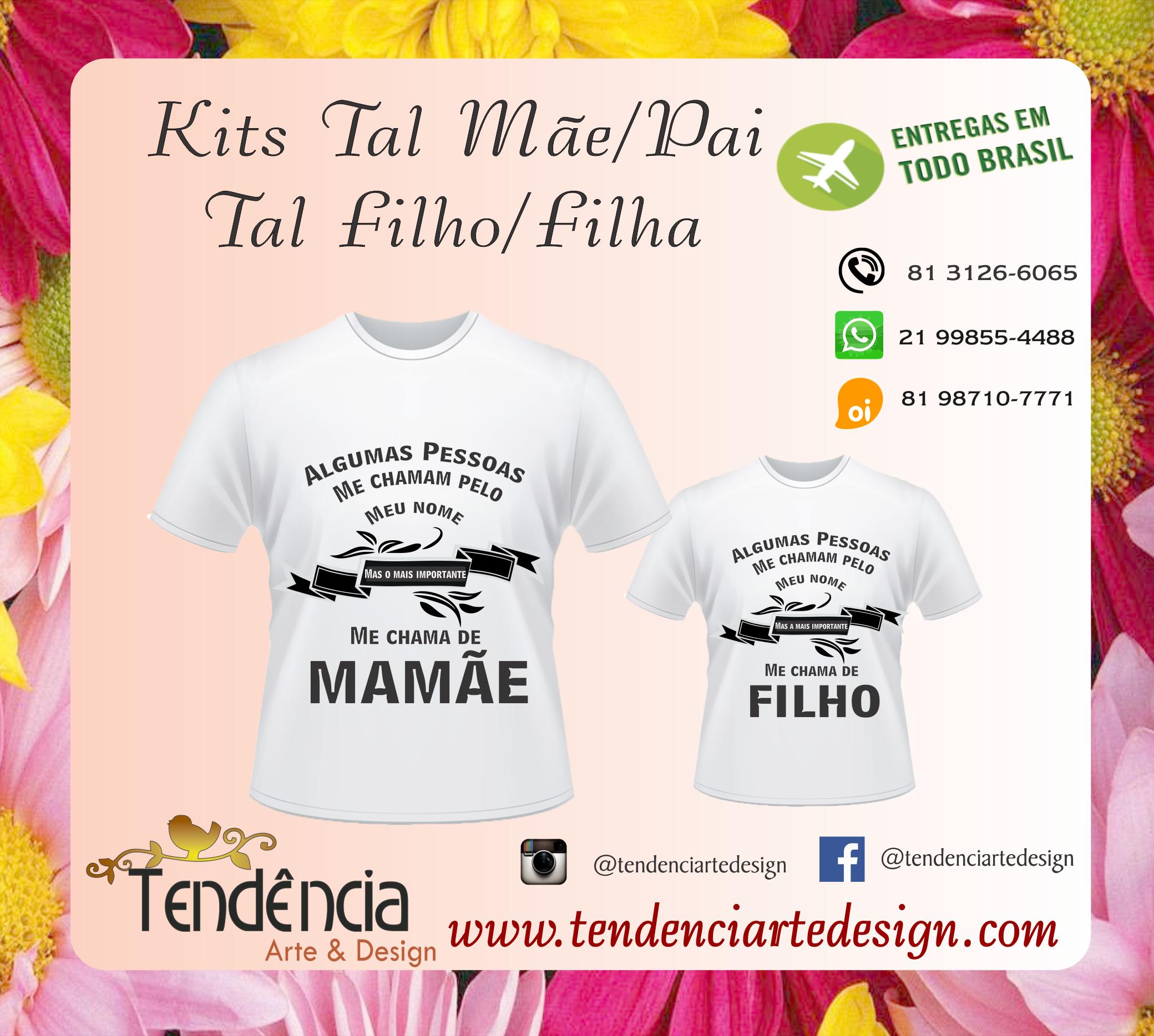 9816ad1d61a3d0 T-shirts tal Mae e tal filho | camisetas personalizadas | Mae e ...