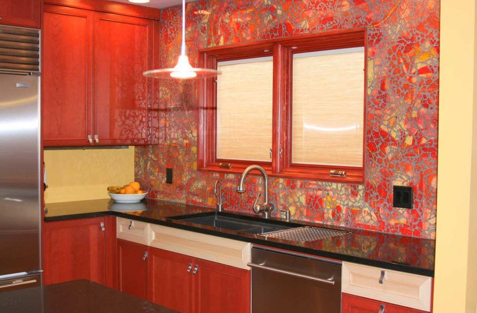 Kitchen Backsplash White Brick Ideas Red Tiles For