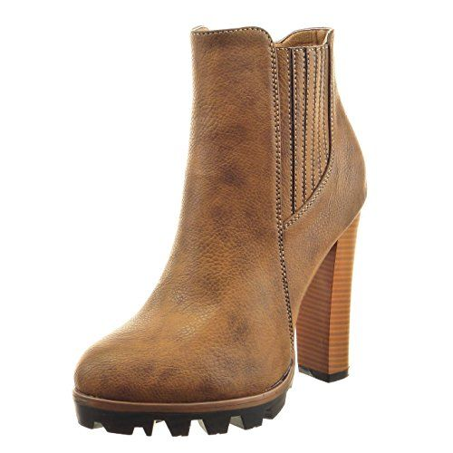 QIN&X Les talons talon bloc court à tête ronde Chaussures Bottes Beige,Martin,40