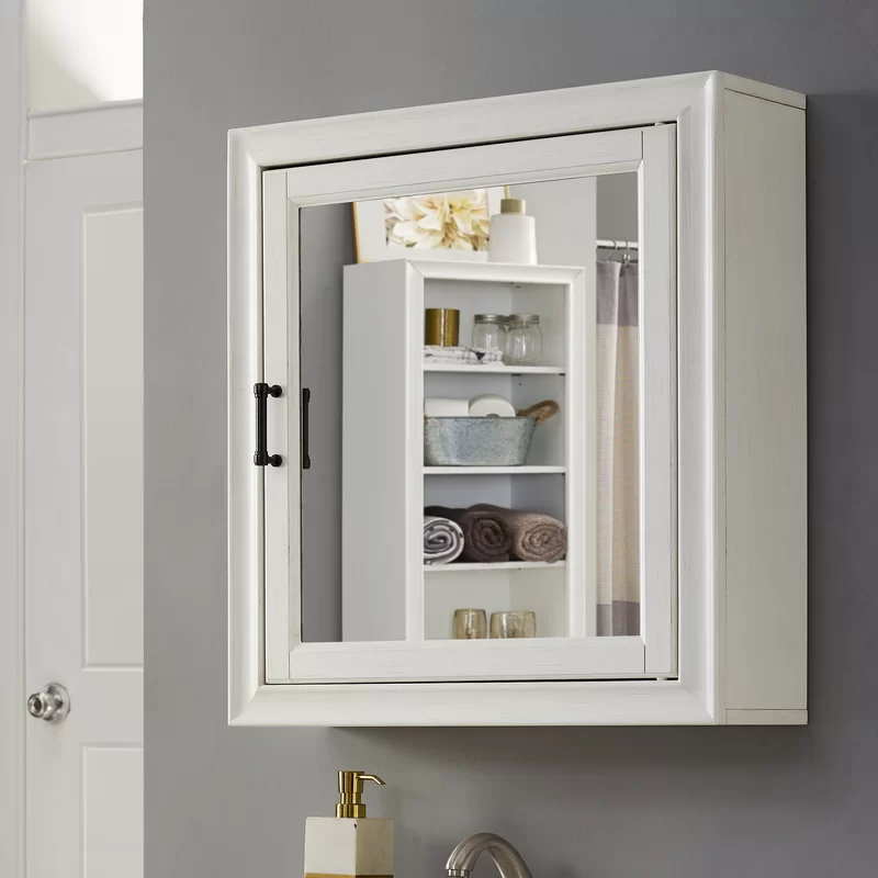 Jesse 23 75 X 26 Surface Mount Framed 1 Door Medicine Cabinet With 2 Adjustable Shelves Adjustable Shelving Adjustable Shelf Cabinet Surface Mount Medicine Cabinet