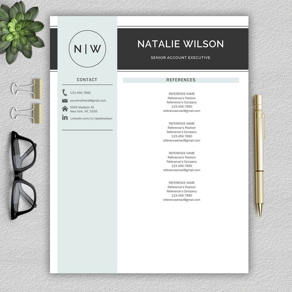 Resume CV Template Resume template, Resume template word
