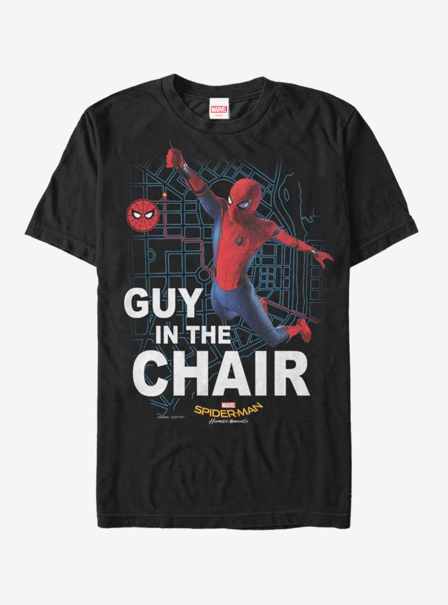 Marvel Spider Man Far From Home Directors Chair T Shirt Black Long Sleeve Sweatshirt Marvel Spiderman Shirts