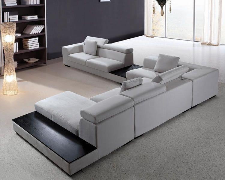 Large Microfiber Modern Sectional Modern Sofa Sectional Contemporary Sectional Sofa Modular Sectional Sofa