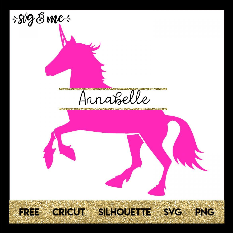 Unicorn Split Monogram Cricut, Svg files for cricut