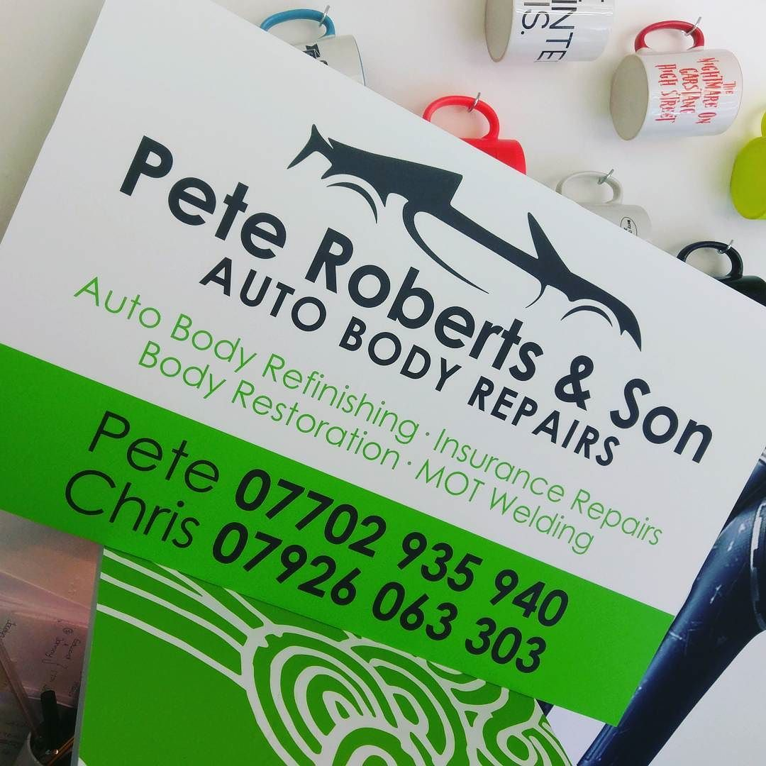 Some Signage Made Recently For Pete Roberts Son In Inskip