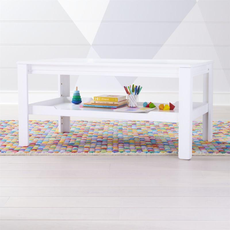 Shop Large Adjustable White Kids Table Storage Tray Take
