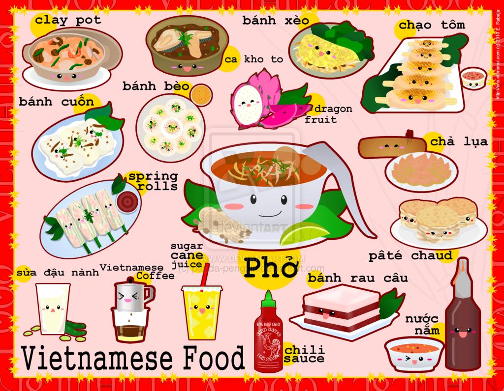 Viet Food Lol So Cute Vietnamese Recipes Viet Food Food Illustrations