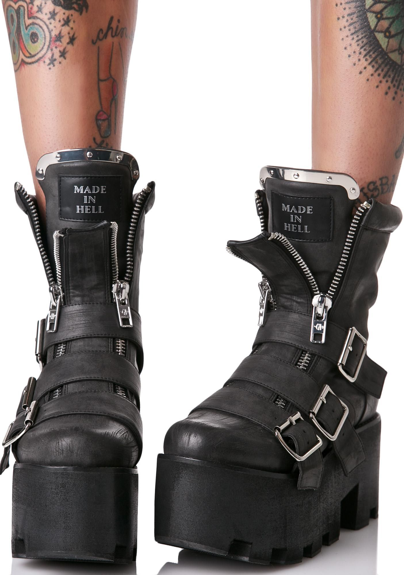 1526cf43a1b9 The flames of hell can t match the heat yer bringin with these sikk boots
