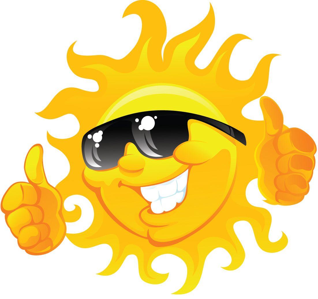 Summer sun. Clipart blah clip art