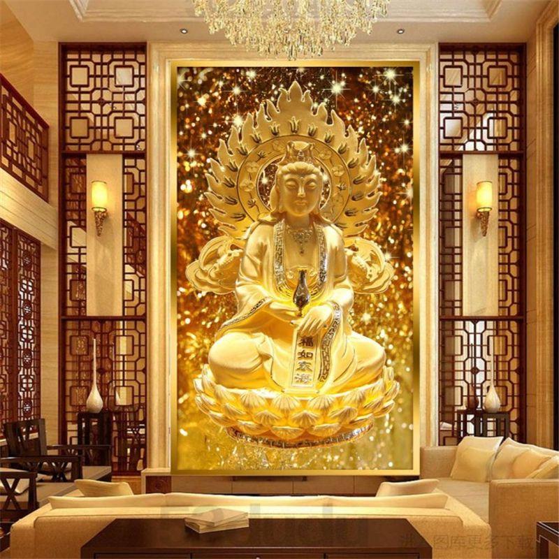 beibehang Guanyin Buddha Buddhist religion photo wallpaper 3D ...