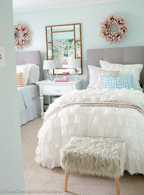 40 Beautiful Teenage Girls Bedroom Designs For Creative Juice Girls Bedroom Paint Colors Girls Bedroom Paint Girls Bedroom Makeover Most popular teenage bedroom paint
