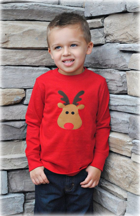 Rudolph the red nosed reindeer t-shirt Christmas Shirts For Kids, Kids Christmas  Outfits - Rudolph The Red Nosed Reindeer T-shirt Kids Holiday Clothing