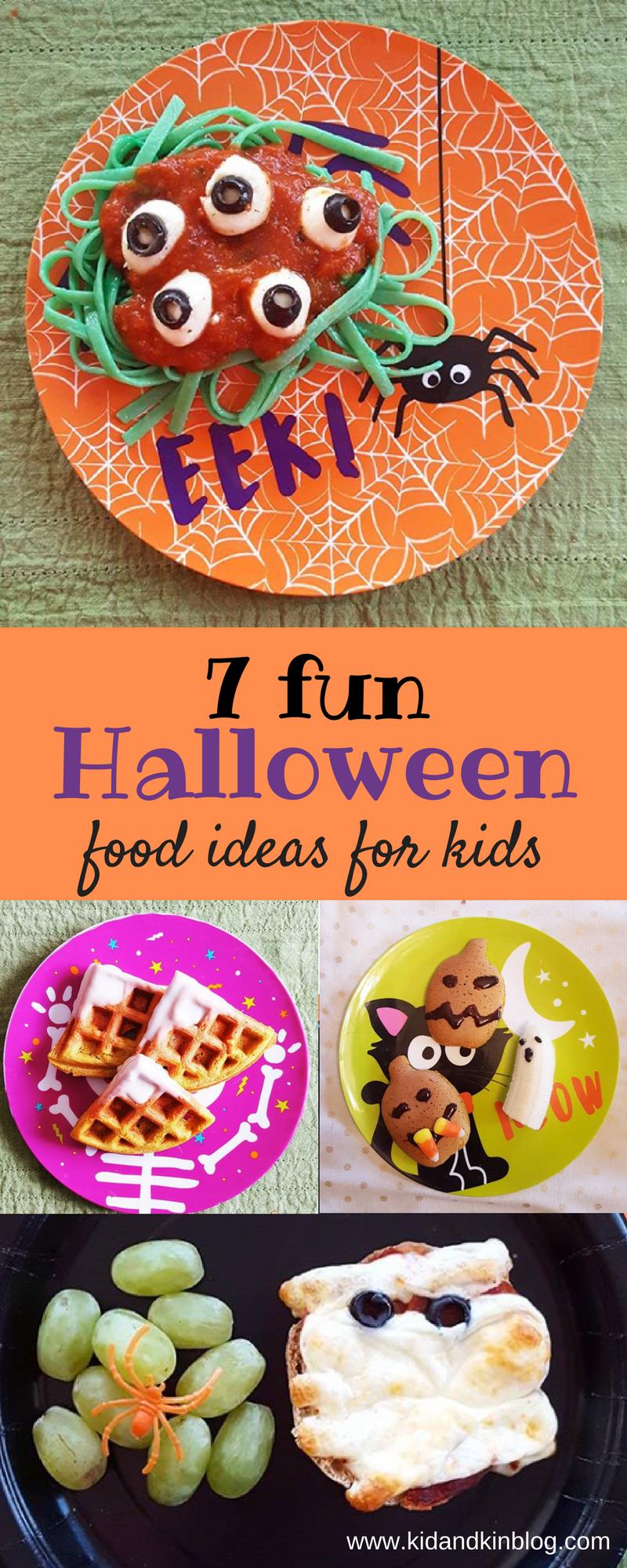 7 fun halloween foods for kids | happy halloween | pinterest