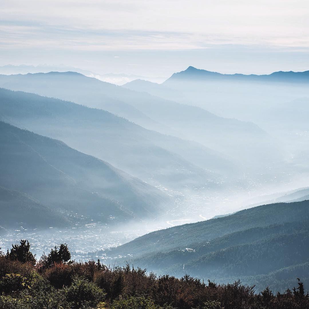 Glen Thomson On Instagram Morning Mists Over Thimphu From Phajoding Monastery Bhutan Mybhutan Mybhutan Mist Travelphot Thimphu Travel Photography Mists