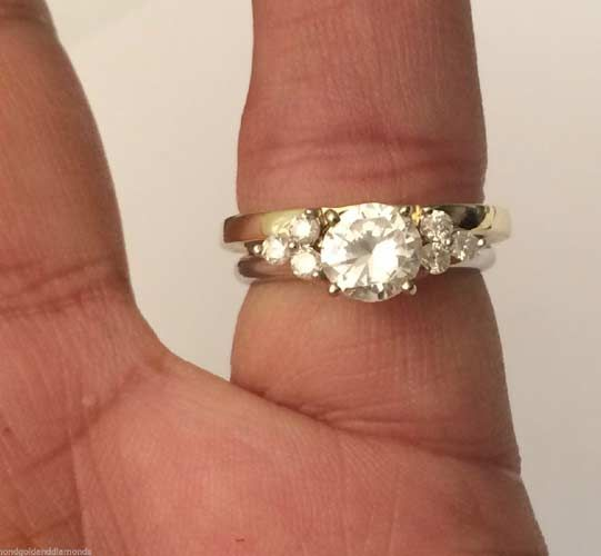 Pin By Cindy Salisbury On My Style In 2020 Diamond Solitaire Enhancer Bridal Ring Sets Diamond Bridal Ring Sets