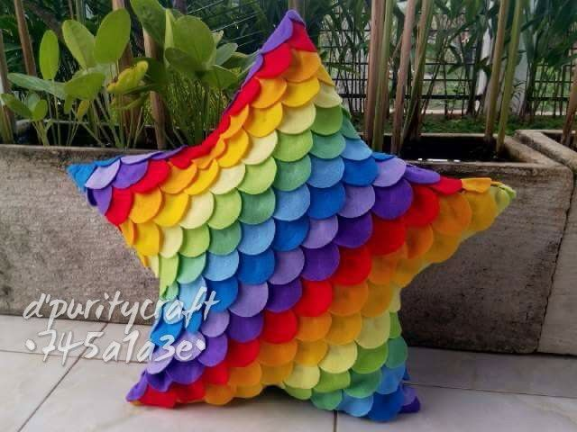 My rainbow star pillow
