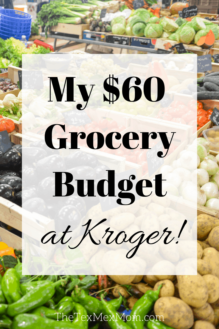 60 Weekly Grocery Budget At Kroger In 2020 Grocery Budgeting Meal Planning Budget Meals