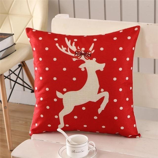 Throw Pillows Case Cotton Linen Tree New Year Decorative Pillows For Sofa Funda Cojin Halloween Christmas Cushion Cover Latest Fashion Cushion Cover