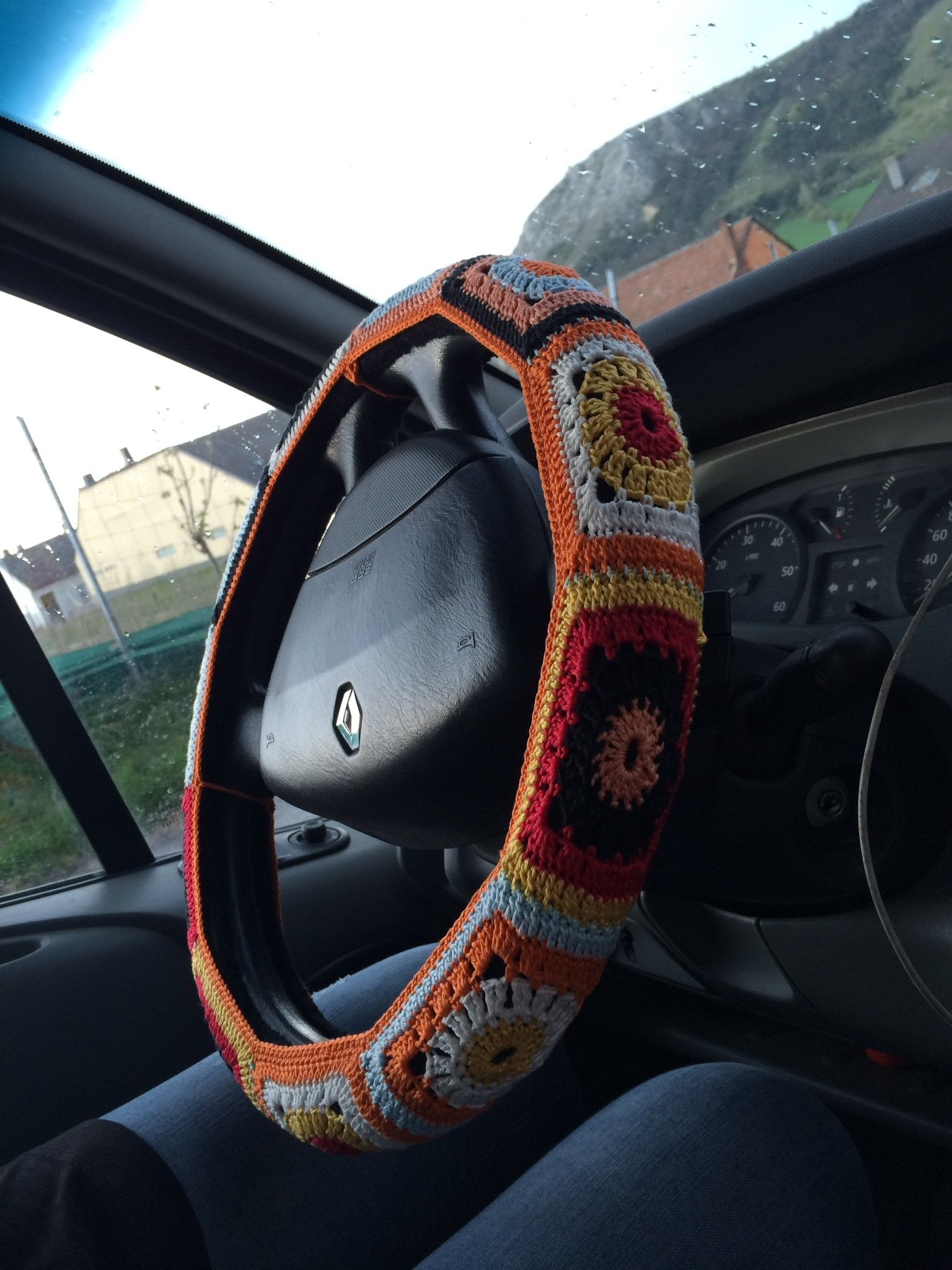 Häkeln crocheting crochet lenkrad autp diy wolle | DIY | Pinterest ...