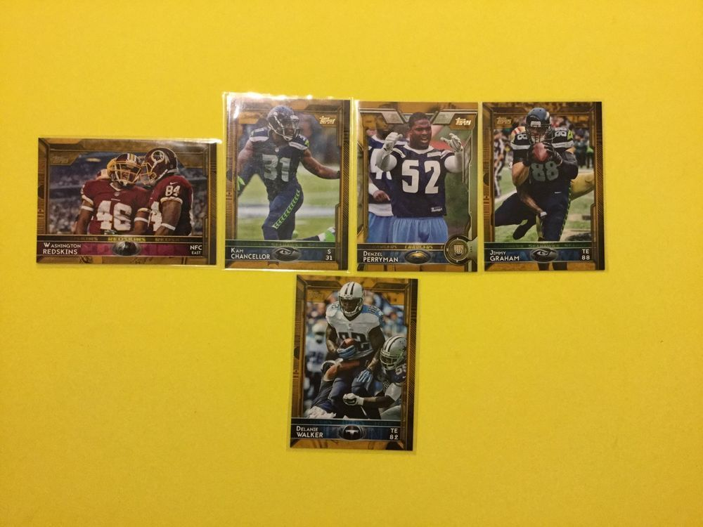 2015 Topps GOLD Boarder Lot Of 5 All Numbered, Inc. D. Walker TITANS #Various