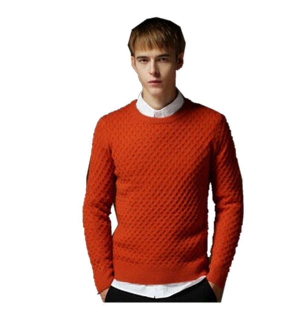 QualityUC Mens Winter Stylish European Designer Slim Fit Round Neck Pullover Sweater