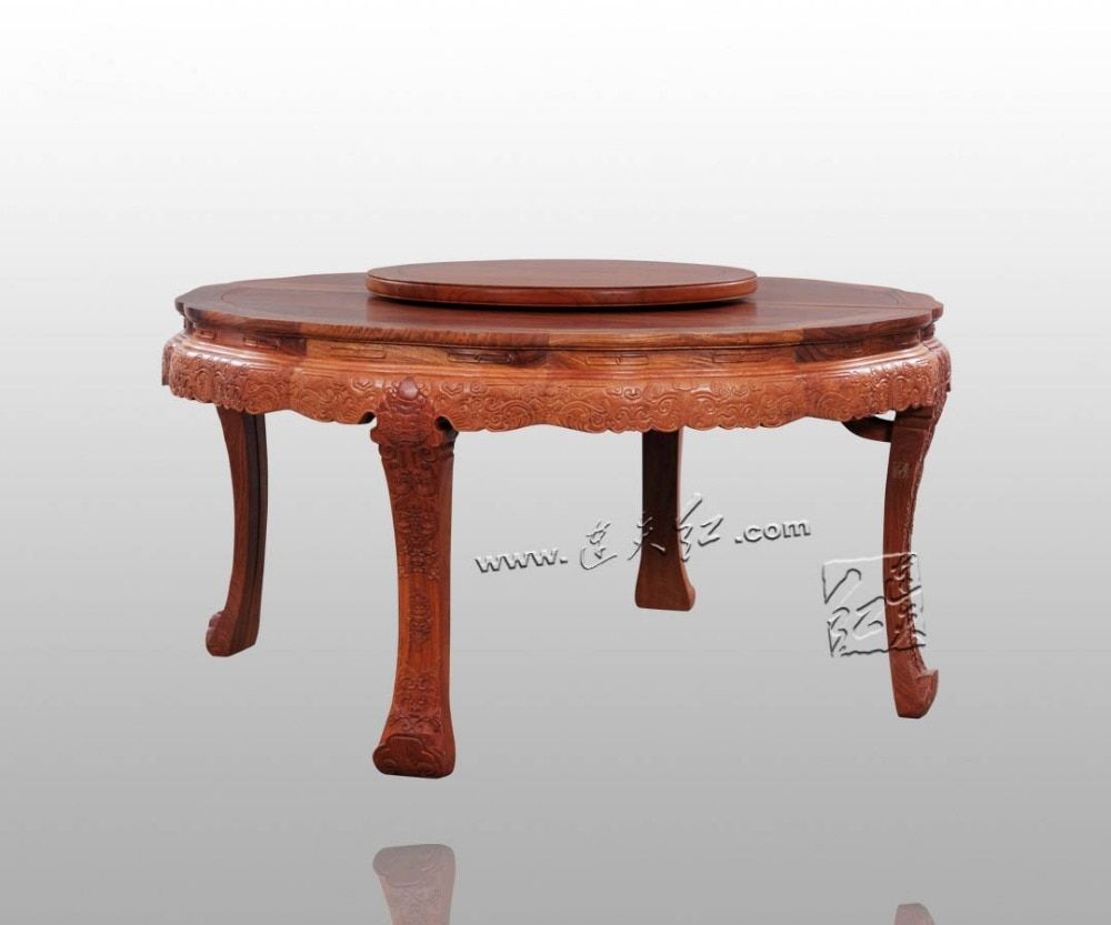 2 1 0 8m Big Round Table Annatto Solid Wood Dinging Room Furniture Rosewood Chinese Classical Antique Restaurant 10 Person Desk Furniture Table Room Furniture [ 833 x 1000 Pixel ]