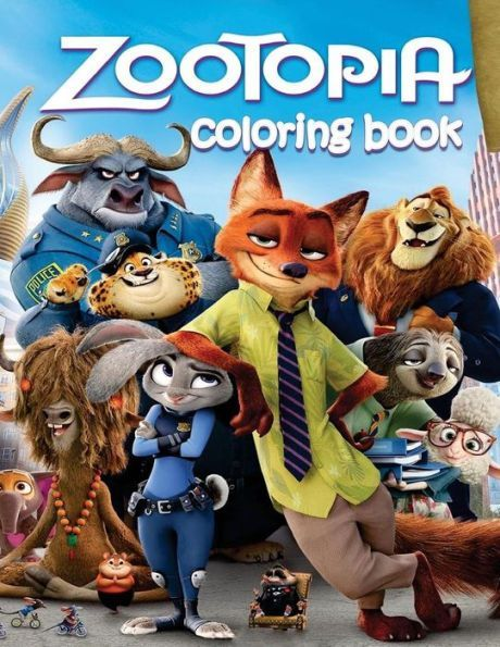 Zootopia Coloring Book For Kids And Adults
