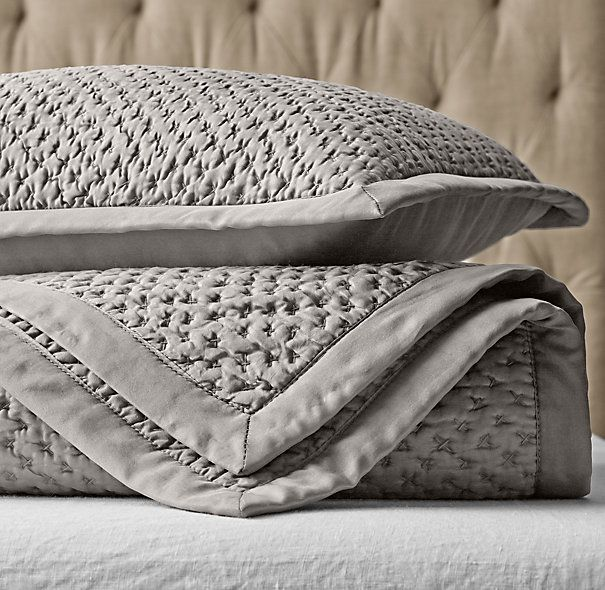 restoration hardware italian bedding reviews linen bed skirt love grey coverlet finally understand components proper baby out