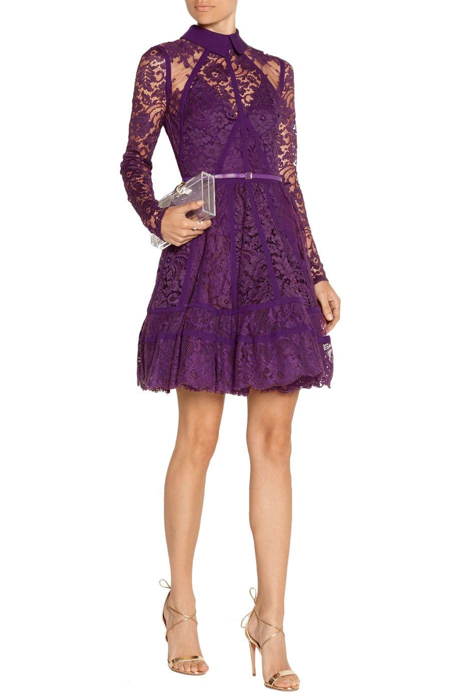 Elie Saab purple lace dress   Style   Pinterest