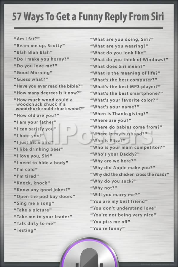 'Ways to Get a Funny Reply from Siri Humor Poster' Posters -   AllPosters.com