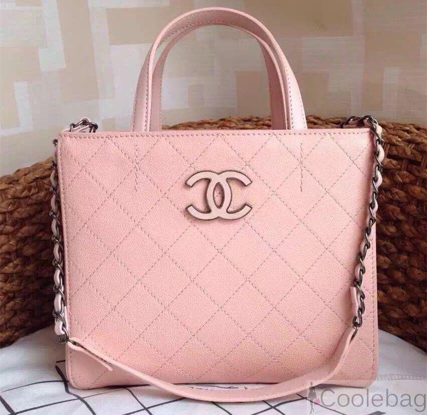eb870aa445f331 chanel hampton tote bag in caviar leather Pink | Chanel handbags ...