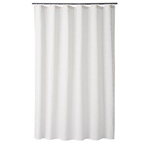 Home Classics Seersucker Fabric Shower Curtain Fabric Shower