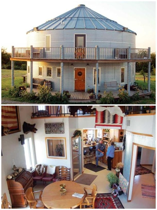 A Home In A Grain Bin The Homestead Survival Grain Bin House House Layouts Silo House