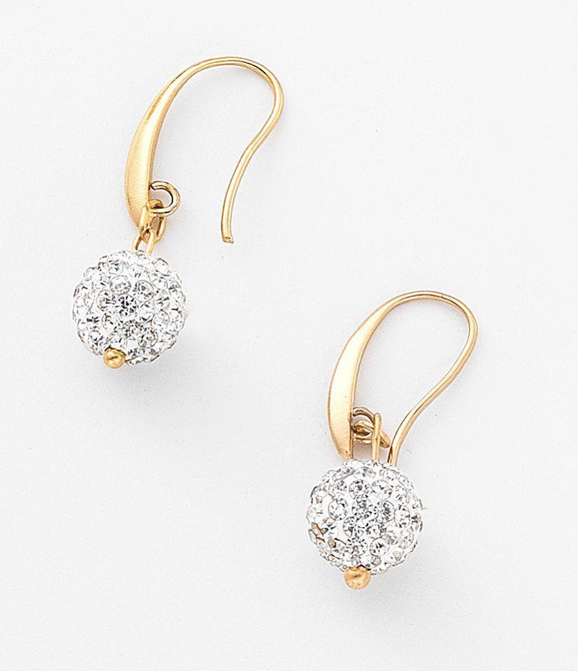be7811a39053 NICE Regalos hermosos - Clásicos y elegantes. Aretes con piedras de cristal  incrustadas con 4 baños de oro de 18 kilates.