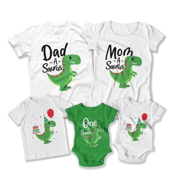 Kids Dinosaur Birthday Shirt First Birthday Party 1st Birthday Boy Fun Party Ideas First Birthday Outfit Boy Bday T Shirt DAT-3130-31-32-29